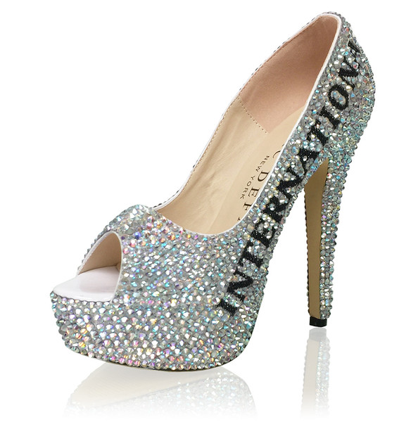 "6"" High Heel Title Platform Pumps"