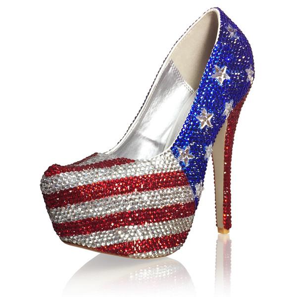"6"" High Heel US Flag Pumps"