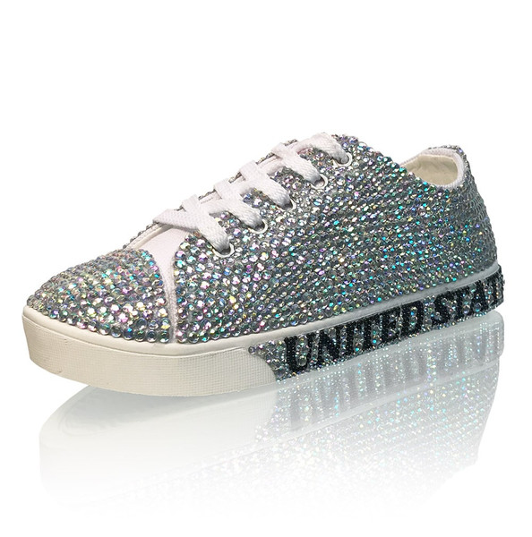 GIRLS - Handmade Personalized Crystal Sneakers