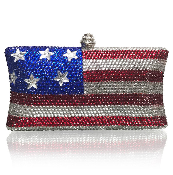 American Flag Large Clutch (iPhone X Plus friendly)