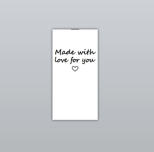 Made with love for you Clothing Labels by Ted + Toot Labels