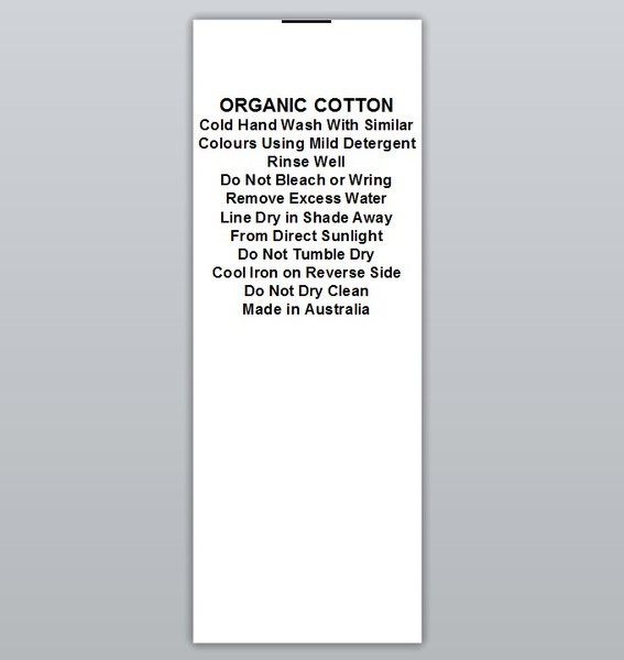 Organic Cotton Cool iron Clothing Labels by Ted + Toot labels