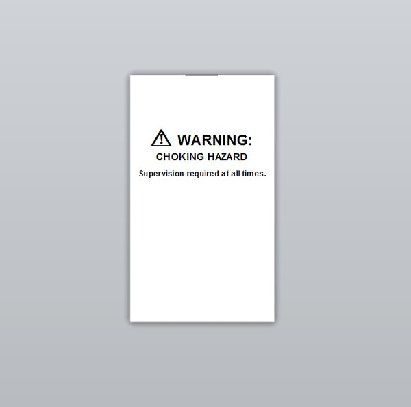 Warning Choking hazard Clothing Labels by Ted + Toot labels