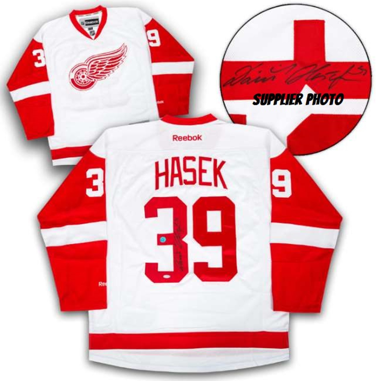 Dominik Hasek Detroit Red Wings Autographed White Reebok Premier ...