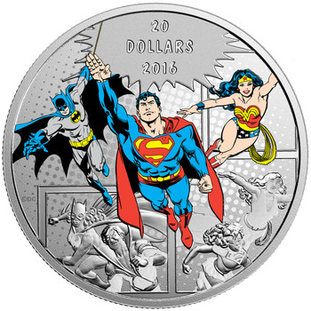 2016 $20 FINE SILVER COIN DC COMICS™ ORIGINALS: THE TRINITY