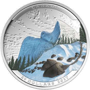 2017 $20 FINE SILVER COIN – LANDSCAPE ILLUSION SNOWY OWL
