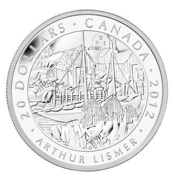 2012 $20 FINE SILVER COIN - GROUP OF SEVEN - ARTHUR LISMER