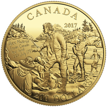 2017 $200 PURE GOLD COIN - GREAT CANADIAN EXPLORERS SERIES: ALEXANDER MACKENZIE