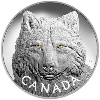 2017 $250 FINE SILVER COIN IN THE EYES OF THE TIMBER WOLF