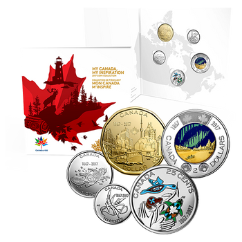 2017 MY CANADA - 5-COIN SET - MY INSPIRATION COLLECTOR CARD