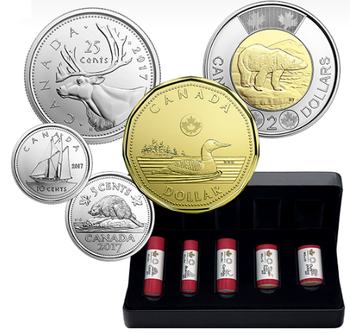 2017 CLASSIC CANADIAN COIN SPECIAL WRAP ROLL COLLECTION