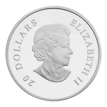 2012 FINE SILVER $20 COIN - CRYSTAL SNOWFLAKE - QUANTITY SOLD: 4896