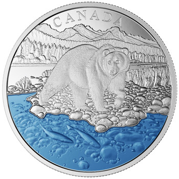 2017 $20 FINE SILVER COIN ICONIC CANADA: THE GRIZZLY BEAR
