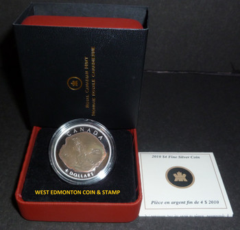 2010 $4 DINOSAUR COLLECTION - DROMAEOSAURUS (4TH COIN IN SERIES)