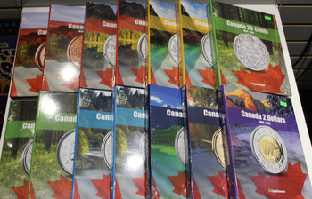 VISTA COIN BOOK CANADA COMPLETE SET (14 BOOKS)