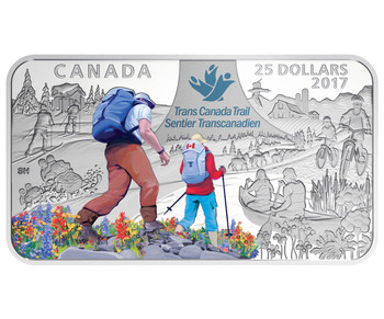2017 $25 FINE SILVER COIN THE GREAT TRAIL