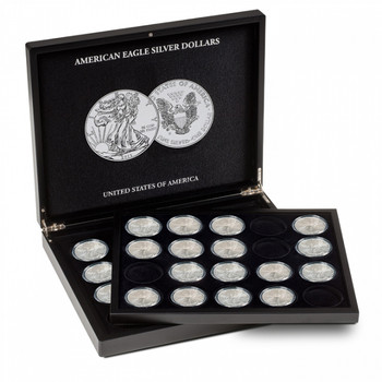 PRESENTATION CASE FOR 20 AMERICAN EAGLE SILVER DOLLARS