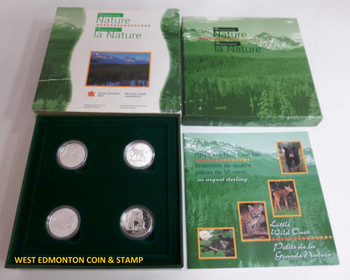 1996 50-CENT PROOF 4-COIN SET - LITTLE WILD ONES.