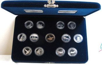 1992 SPECIAL EDITION PROOF STERLING SILVER SET - 125TH ANNIVERSARY