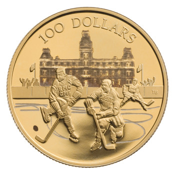 2006 $100 14 KARAT GOLD COIN WORLD'S LONGEST HOCKEY SERIES