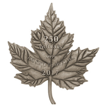 2017 $250 FINE SILVER COIN - MAPLE LEAF FOREVER