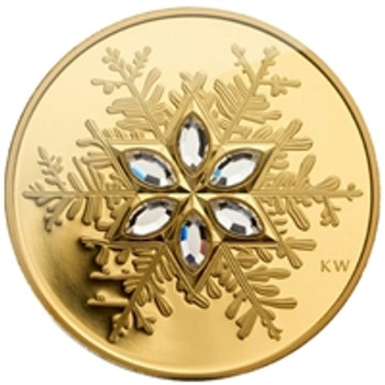 2006 $300 14KT GOLD COIN - CRYSTAL SNOWFLAKE