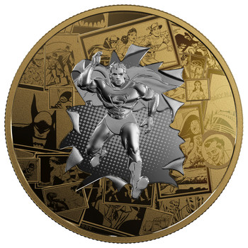 2017 $50 FINE SILVER COIN DC COMICS ORIGINALS: ALL STAR COMICS