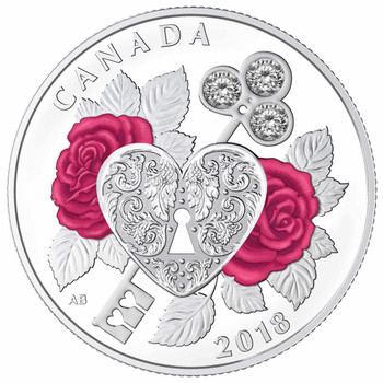 2018 $3 FINE SILVER COIN CELEBRATION OF LOVE