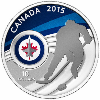 2015 $10 FINE SILVER COIN WINNIPEG JETS™