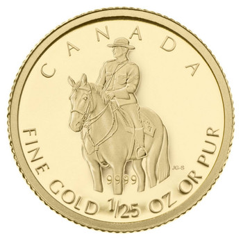 2010 1/25 OZ GOLD COIN - ROYAL CANADIAN MOUNTED POLICE