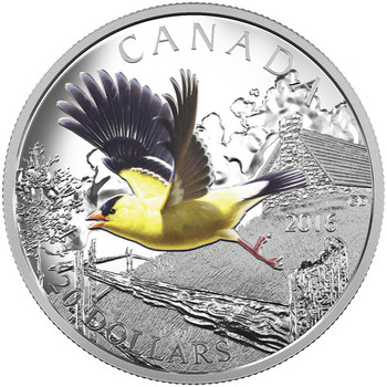 2016 $20 FINE SILVER COIN THE MIGRATORY BIRDS CONVENTION: AMERICAN GOLDFINCH