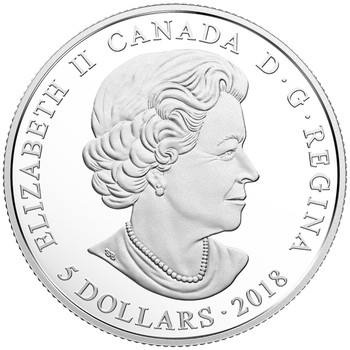 2018 $10 FINE SILVER MAPLE LEAVES