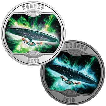 2018 $10 FINE SILVER COIN STAR TREK™: THE NEXT GENERATION