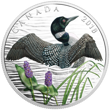 2018 $10 FINE SILVER COIN THE COMMON LOON: BEAUTY AND GRACE