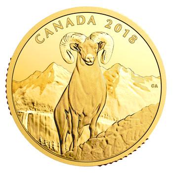 2018 $200 PURE GOLD COIN – BIGHORN SHEEP