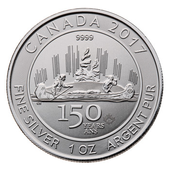 1oz. 2017 CANADIAN 150 SPECIAL EDITION VOYAGEUR SILVER COIN