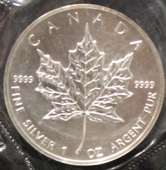 1oz. 1988 CANADIAN SILVER MAPLE LEAF COIN