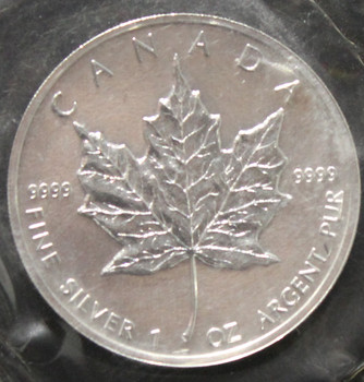 1oz. 1994 CANADIAN SILVER MAPLE LEAF COIN