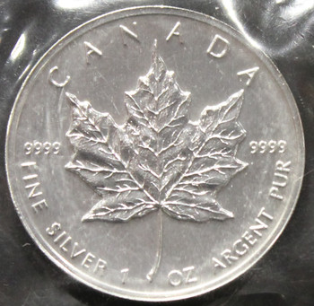 1oz. 1997 CANADIAN SILVER MAPLE LEAF COIN