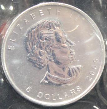 1oz. 2009 CANADIAN SILVER MAPLE LEAF COIN