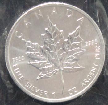 1oz. 2011 CANADIAN SILVER MAPLE LEAF COIN