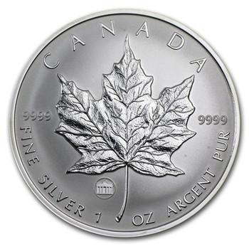1oz. 2009 CANADIAN BRANDENBURG GATE PRIVY MARK SILVER MAPLE LEAF COIN