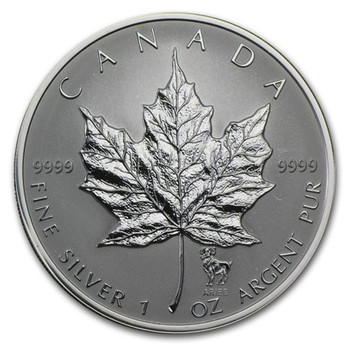 1oz. 2004 CANADIAN ARIES PRIVY MARK SILVER MAPLE LEAF COIN