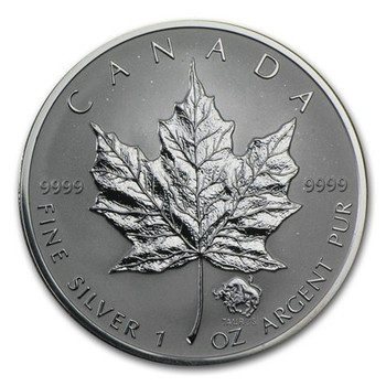 1oz. 2004 CANADIAN TAURUS PRIVY MARK SILVER MAPLE LEAF COIN