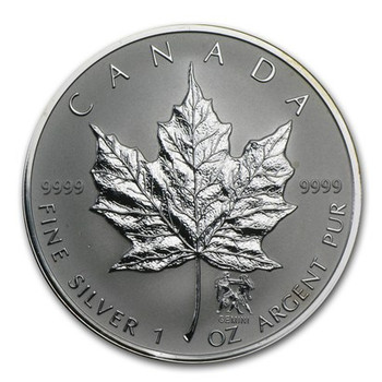 1oz. 2004 CANADIAN GEMINI PRIVY MARK SILVER MAPLE LEAF COIN