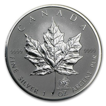 1oz. 2004 CANADIAN SAGITTARIUS PRIVY MARK SILVER MAPLE LEAF COIN