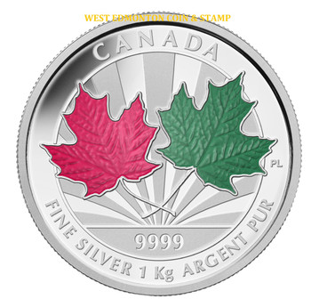 SALE - 2014 $250 FINE SILVER 1-KILO COIN - MAPLE LEAF FOREVER