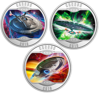 2018  STAR TREK™ STARSHIP 3-COIN SET