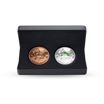 2018 $30 FINE SILVER COIN AND BRONZE MEDALLION SET  100TH ANNIVERSARY OF THE CANADIAN NATIONAL INSTITUTE FOR THE BLIND