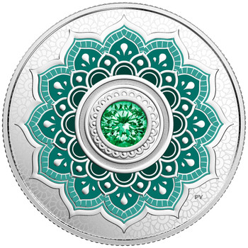 2018 $5 FINE SILVER COIN BIRTHSTONES: MAY